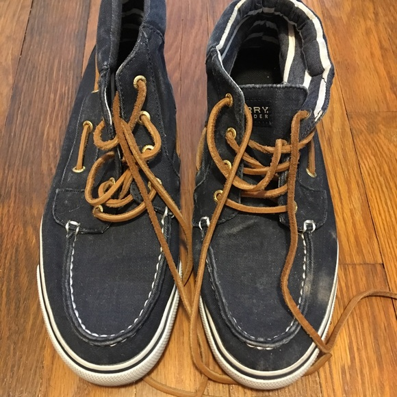 6570954eac7 Sperry Ankle Boat Shoe - Denim